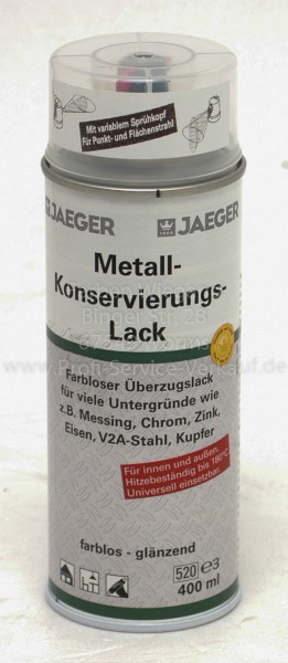 Jaeger Metall Konservierungslackspray, 400 ml