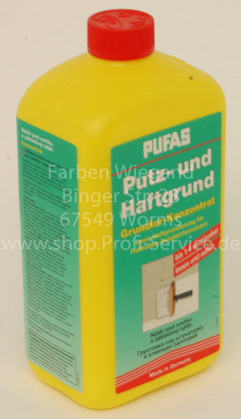 Putz- und Haftgrund sowie Haftgrundierung für Fußboden- Ausgleichmasse