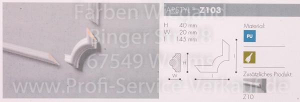 4 Bögen / Ecken für Flachprofil Z10 14,5  x  4 x 2  cm