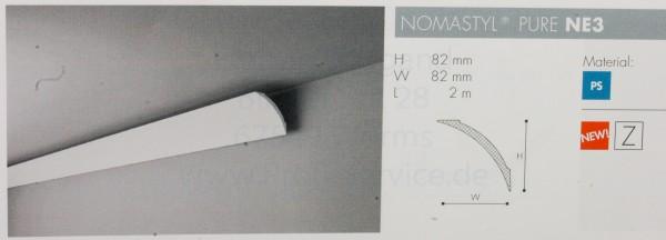 NOMASTYL® PURE Zierprofil NE3 200 x  8,2  x  8,2  cm