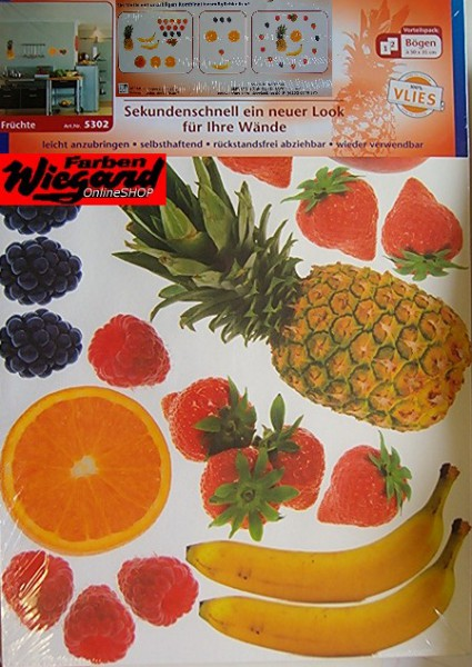 Wand - Tattoo Früchte