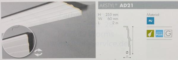 NMC Arstyl® lineares Zierprofill AD21 200x25,5x6 oder 200x6x25,5 cm