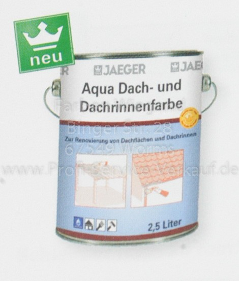 Aqua Dach- und Dachrinnenfarbe anthrazit 2.5 l