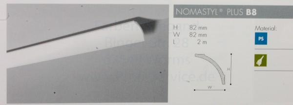 NOMASTYL® PLUS Zierprofil  B8 200 x  8,2  x  8,2  cm