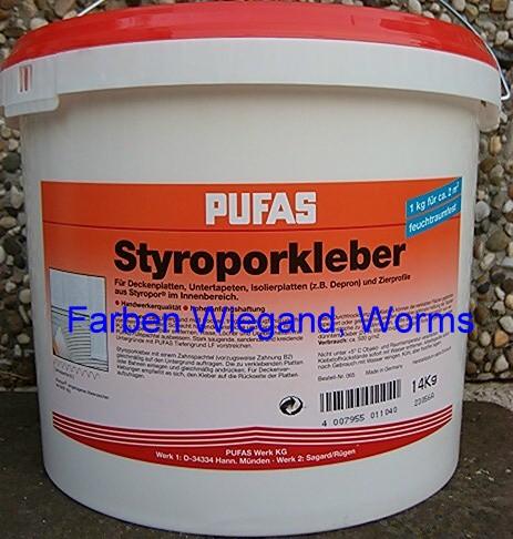 Styroporkleber und Renoviervlieskleber, 14 kg