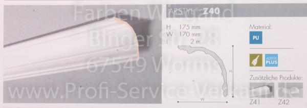 Z40 NMC Arstyl® Kombinationsprofill  Stuckleiste, 200 x 17,5 x 17 cm