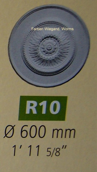Rosette R 10;  Durchmesser 600 mm