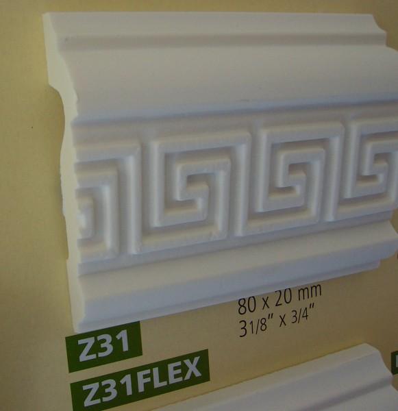 Z31 ornamentierte NMC Arstyl®  Stuckleiste, 200 x 8 x 2 cm