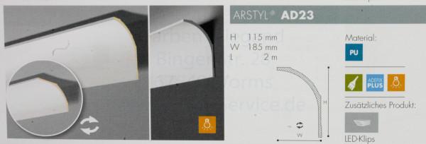 Arstyl NMC AD 23 Wandabschluß und -deckenabschluß