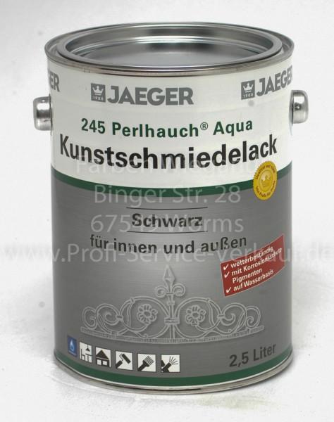 Perlhauch® Aqua-Kunstschmiedelack mattschwarz 2.5 l