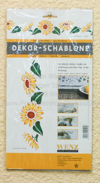 Sonnenblumen Schablone