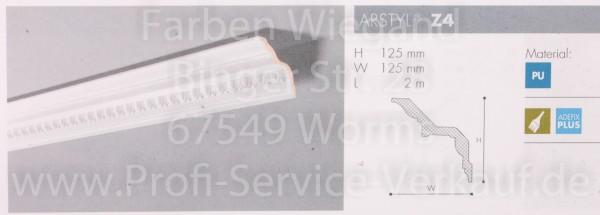 Z4 ornamentierte NMC Arstyl® Stuckleiste, 200 x 12,5 x 12,5 cm