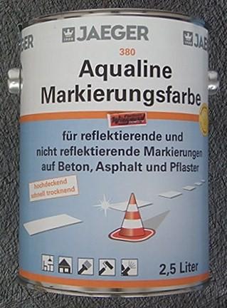 Aqualine Markierungsfarbe weiß 2.5 l