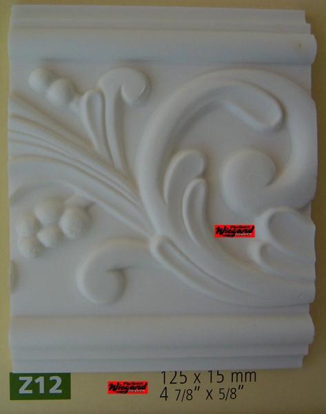 Z12 ornamentierte NMC Arstyl®  Stuckleiste, 200 x 12,5 x 1,5 cm