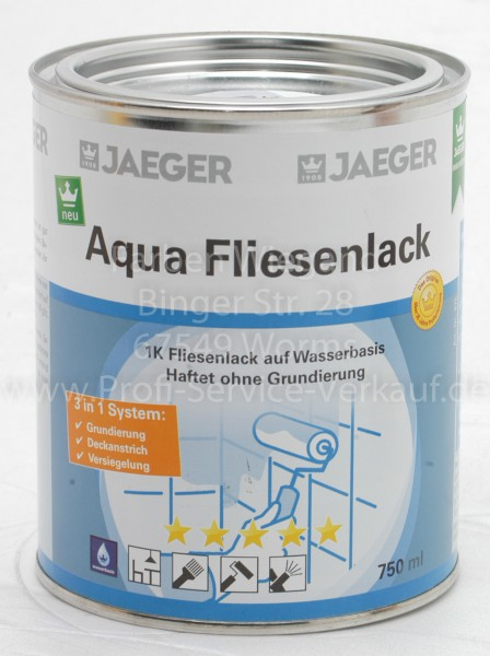 Aqua Fliesenlack terra / dunkelbraun 750 ml