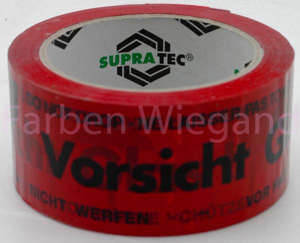 """Packband """"Vorsicht Glas"""", 50 m"""