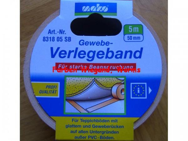 Gewebe Verlegeband, 50 mm breit, 5 m