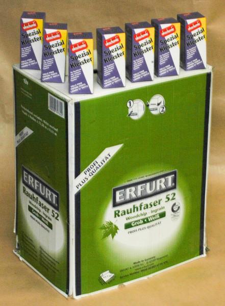 6 Ro Erfurt PRO Rauhfaser 52 + 7 Spezialkleister a 200  g