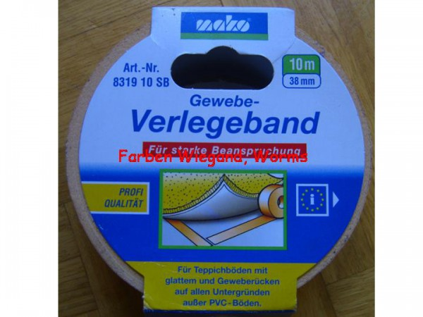 Gewebe Verlegeband, 38 mm breit, 10 m