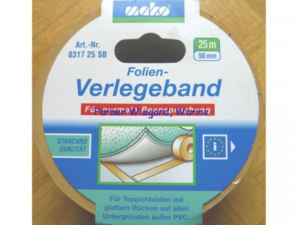 Folien Verlegeband, 50 mm breit, 25 m