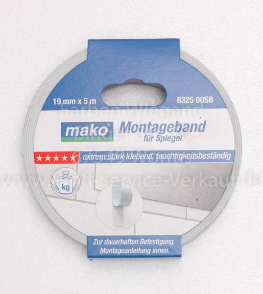 Montage-Klebeband PREMIUM für Spiegel 5 m x 19 mm, weiß