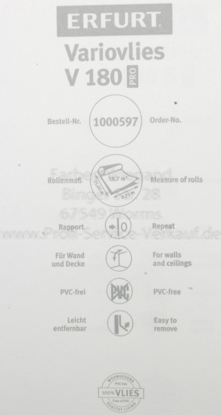 Variovlies V180 PRO, Erfurt,  25 x 1,00 m