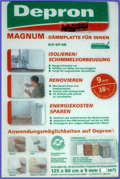 DEPRON Magnum Dämmplatte mit Haftbrücke, 80x125 cm, 9 mm
