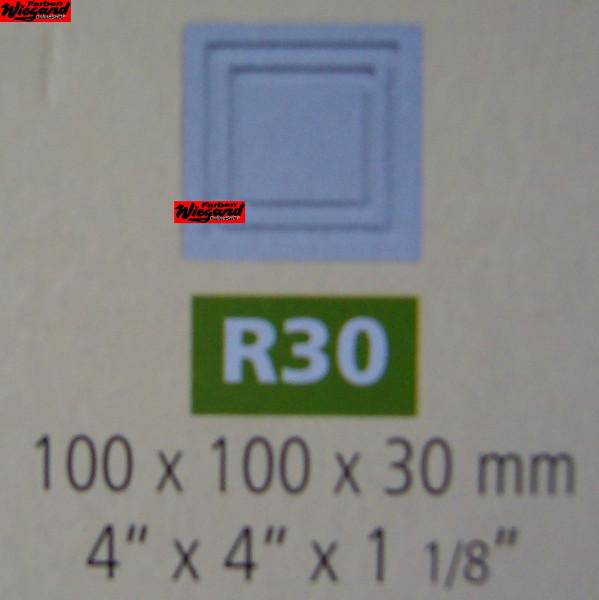 2er Set Dekorationselemente R 30;  100 x 100 x 30 mm
