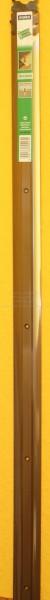 Alu-Übergangsprofil extra breit, bronze, Mitte gelocht,100x3,8 cm