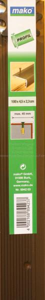 Alu-Treppenkantenprofil, bronze, gelocht,100 x 4,5 x 2,3 cm-1