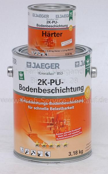 Kronalux® 2K-PU-Bodenbeschichtung steingrau, sdglzd, 3,5 kg