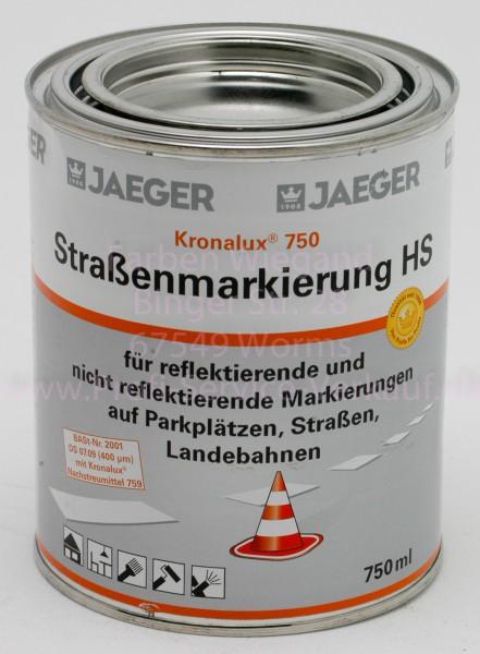 Kronalux® Straßenmarkierung HS750 (High-SolidFarbe), weiß, 750ml