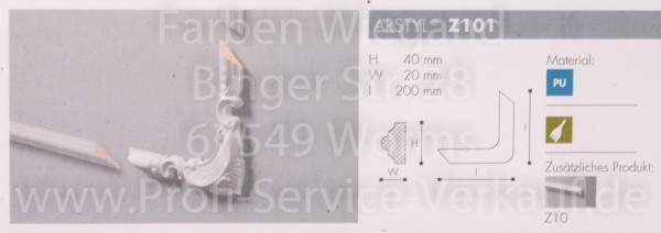 4 Bögen / Ecken Z101 für Flachprofil Z10 20 x 4 x 2  cm-1