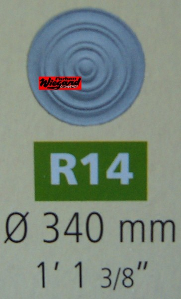Rosette R 14;  Durchmesser 340 mm