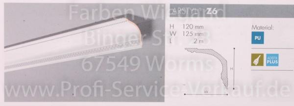 Z6 ornamentierte NMC Arstyl®  Stuckleiste, 200 x 12 x 12,5 cm