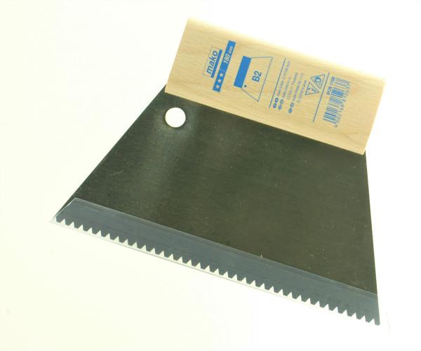 gezahnte B 2 Spachtel mit Schutz für die Zähne, 18 cm