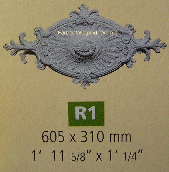 Rosette R 1;  605 x 310  mm