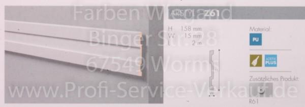 Z61  lineare NMC Arstyl® Stuckleiste, 200 x 15,8 x 1,5 cm