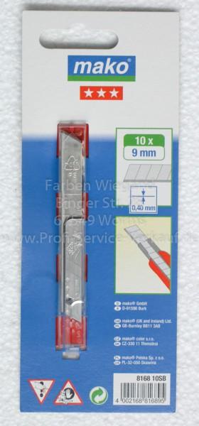 10 Cutterklingen 9 mm  im Sicherheitsspender