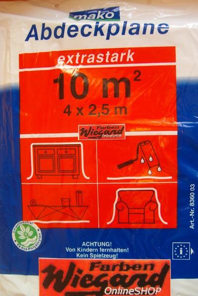 Bauplane extra stark 4 x 2,5 m = 10 m²
