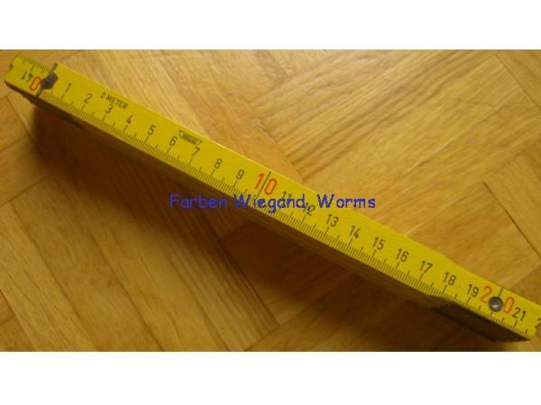 Holz-Maßstab gelb
