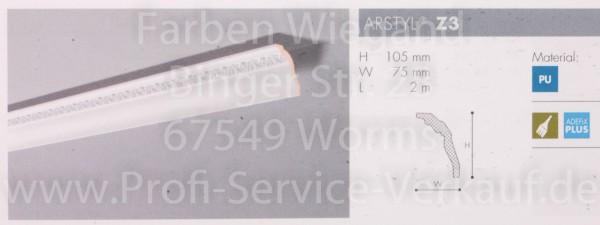 Z3 ornamentierte NMC Arstyl®  Stuckleiste, 200 x 10,5 x 7,5 cm