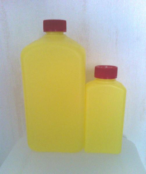 Vierkantbehälter leer, gelb mit Deckel