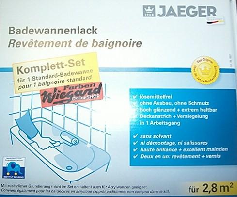 Set für Badewannen- und Fliesenlack pergamon für 2,8 m²