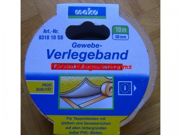 Gewebe Verlegeband, 50 mm breit, 10 m