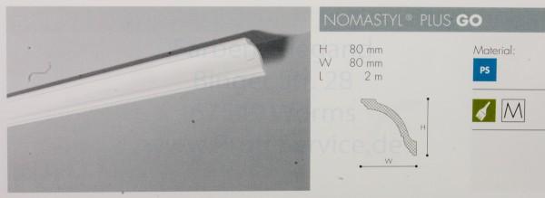 NOMASTYL® PLUS Zierprofil  GO 200 x  8  x  8  cm