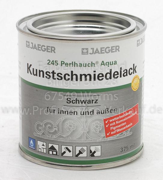 Perlhauch® Aqua-Kunstschmiedelack mattschwarz 375 ml