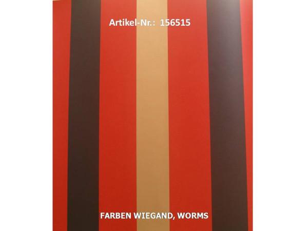 LOUNGE 2010 Block-Streifentapete schwarz + rot + gold