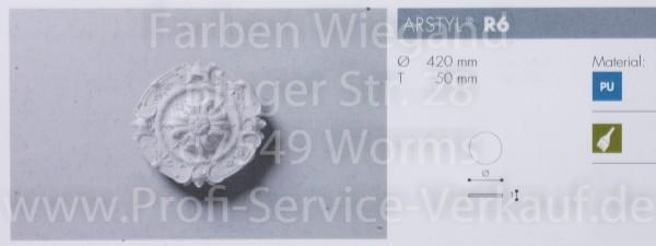 Rosette R 6;  Durchmesser 420 mm