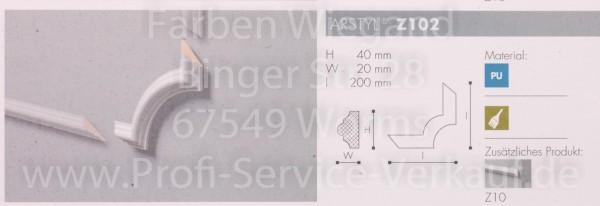 4 Bögen / Ecken für Flachprofil Z10 20 x  4 x 2  cm